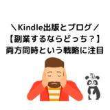 【Kindle出版とブログ】副業するならどっち?【両方同時という戦略に注目】